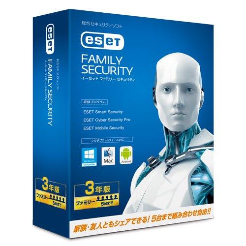 ESET ファミリー セキュリティ 3年版が3,980円