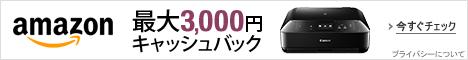 最大3,000円キャッシュバック
